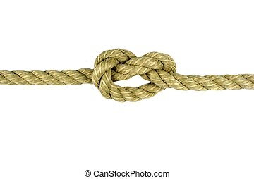 Natural rope ,on white background