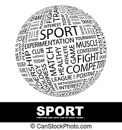 SPORT Concept illustration Graphic tag collection Wordcloud...
