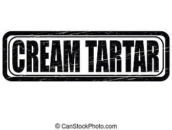 Cream Tartar - Stamp with text cream tartar inside, vector...