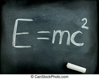 Albert Einsteins physical formula - E=mc2, Albert Einsteins...