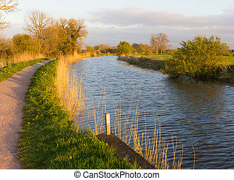English canal West country UK - Bridgwater and Taunton Canal...