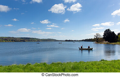 Blagdon Lake Somerset England UK south of Bristol provides...