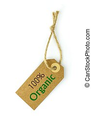 100 Organic, on white background