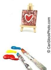 Brocha, colores, Pintura