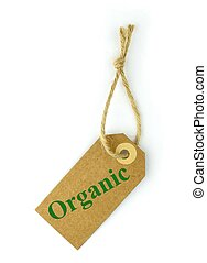"""Natural paper Label and green """" organic """" text"""