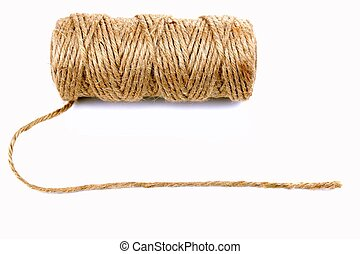 Natural rope, on white background
