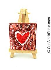 corazón, Pintura