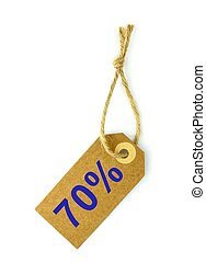 70 Sale tag,on white background