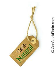Label and 100 Natural text - Label and 100 Natural green...
