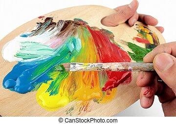 Color, Mezclar, palet