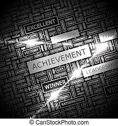 ACHIEVEMENT Background concept wordcloud illustration Print...