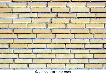 Yellow brick wall ,close up image
