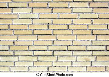 Yellow brick wall ,close up image