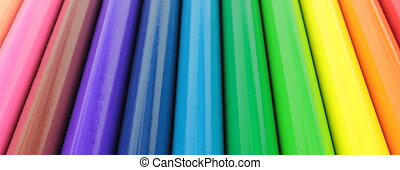 Colorful banner, close up image