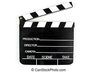 Movie Directors Clap Board Isolated On White Background