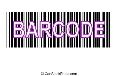 Barcode ,on white background