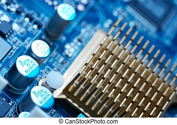 Comuters - Computer mainboard detail, shallow DoF background