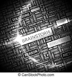 BRAINSTORM Concept illustration Graphic tag collection...