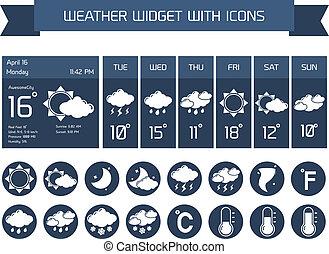 Weather widget icons set - Weather detailed forecast...