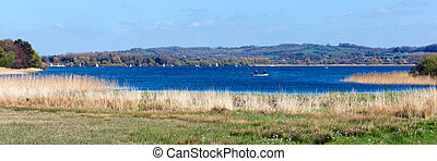 Panoramic Chew Lake Somerset UK - Chew Valley Lake and...