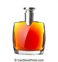el, botella, aguardiente, (cognac)