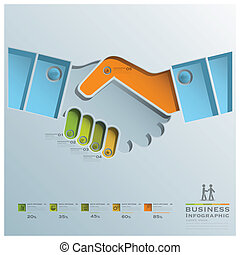 Hand Shake Business Infographic Business Infographic Design...