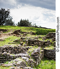 Etruscan archaeological site in Volterra, Tuscany. Italy