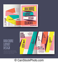 brochure design with hand drawn style - vector template of...