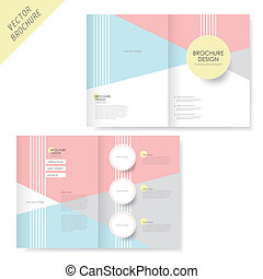 brochure design with pink and light blue - vector geometry...