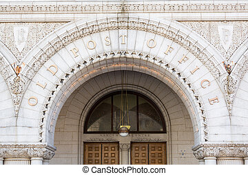 Entrance to Old Post Office building Washington - Entrance...