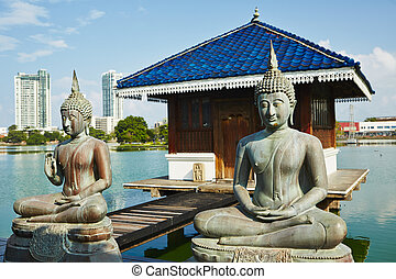 Buddhist Temple - The Seema Malaka Temple - Gangaramaya in...