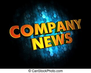 Company News Concept on Digital Background - Company News...
