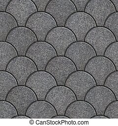 Concrete Pavement as Squama. Seamless Tileable Texture. -...