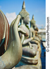 Buddhist Temple - Statues of Buddha in Seema Malaka Temple -...