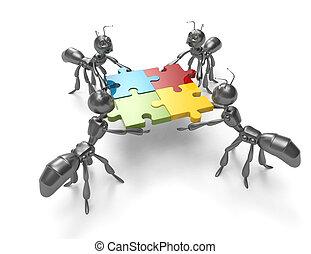 ジグソーパズル, Puzzle-teamwork, 概念