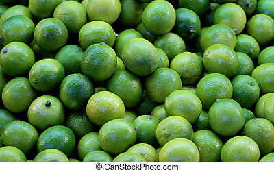 Lime fruits background