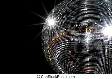 Disco ball on blackbackground