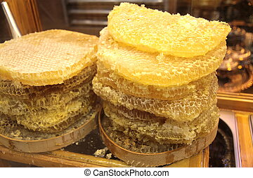 Delicious honeycomb,close up image