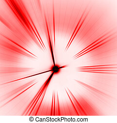 Time- red close up image