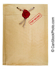 Top secret mail with rope and wax seal
