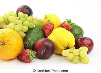 Fruit mix, on white background