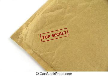 Top secret mail close up image