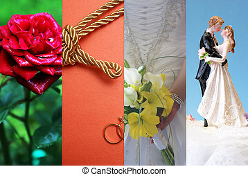 Marriage Collage - A collage of images relating to the...