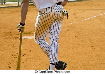 Player on Deck - A player on deck waiting to bat