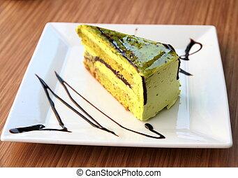 Yummy cake close up image