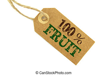 Fruit Label - 100% Frut label