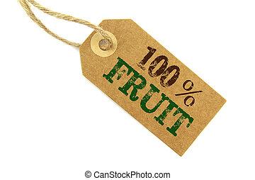 Fruit Label - 100% Frut label