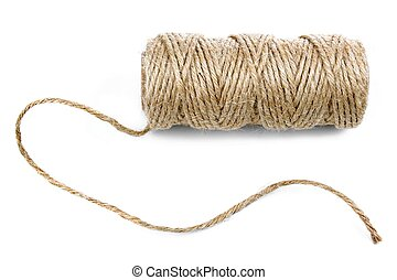 Natural rope on white background