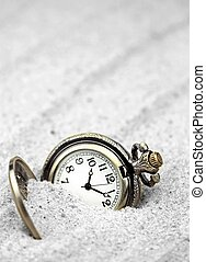Antique clock close up image