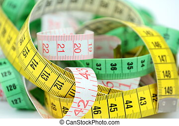 Tape measure,close up image